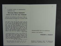 Marie Colruyt Vve Vogeleer Lembeek 1905 1984 /12/ - Images Religieuses