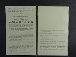 Marie-Josèphe Petre Anderlecht 1889 Oudenaarde 1972 /13/ - Images Religieuses