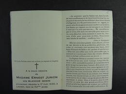Banche Godin épse Jurion Louvain 1930 /15/ - Images Religieuses