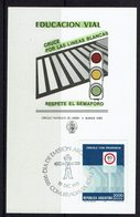 FDC ARGENTINE, SEMAFORO ROAD EDUCATION, PEDESTRIAN STEP 1981 CARTE - Transporte