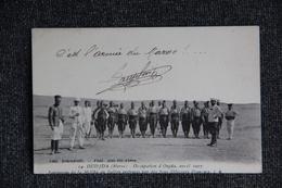 MILITARIA , MAROC - OUDJDA, Occupation D'OUDJDA, 1907, Fantassins De La Melha Du Sultan à L'instruction. - Guerres - Autres