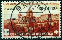Schweiz Suisse 1943: PRO AERO  Mit Aufdruck 13.VII.1943  Zu 36 Mi 422 Yv PA35 Mit Voll-o BERN 13.VII.43 (Zu CHF 15.00) - Luftpost