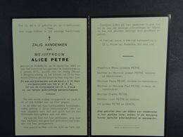 Alice Petre Anderlecht 1890 Oudenaarde 1970 /18/ - Images Religieuses