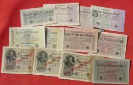 (1049208) Deutsches Reich, 22 X Diverse Inflationsgeldscheine, Banknoten, Siehe Bitte Beschreibung U. Bilder - Collections
