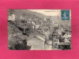 12 Aveyron, Conques, Vue Générale, 1921, Animée, (Douziech) - Francia