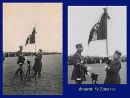 1ère GUERRE MONDIALE - RÉGIMENT : 8e ZOUAVES 1916-1919 - INSCRIPTION INFÉRIEURE EFFACÉE - - Guerra 1914-18