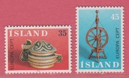 1976 **Islande  (sans Charn., MNH, Postfrish)  Yv  467/8Mi  514/5FA  551/2 - Neufs