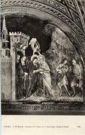 Cartolina INCONTRO SANT'ANNA CON SAN GIOACCHINO, Scuola Di GIOTTO (690) (inviata A Elena Mazzari, Pittrice, 1937) - P69 - Pittura & Quadri