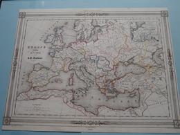 EUROPE A La Fin Du Vme Siècle Par A.H. Dufour ( See Description / Beschrijving ) ! - Cartes