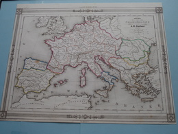 Empire De CHARLEMAGNE Par A.H. Dufour ( See Description / Beschrijving ) ! - Cartes