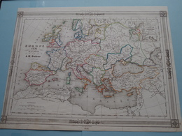 EUROPE à La Fin Du Xme Siècle Par A.H. Dufour ( See Description / Beschrijving ) ! - Cartes