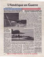 Tract Aérien L' Amérique En Guerre N° 90 - 1944 - Documents
