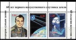 TAJIKISTAN- 2017 - Space- SPUTNIK-- 60th Anniversary Of First Manned Space Flight - 2V MNH-  Sputnik- Yuri Gagarin - Spazio