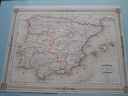 ESPAGNE Sous L'Empire Romain Par A.H. Dufour ( See Description / Beschrijving ) ! - Cartes