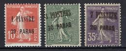 ⭐ Levant Français - YT N° 38 à 40 * - Neuf Avec Charnière - B ( Voir Scan Recto Verso ) - 1923 ⭐ - Unused Stamps