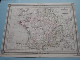 LA GAULE Sous L'Empire Romain Par A.H. Dufour ( See Description / Beschrijving ) ! - Cartes