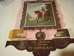 ANCIENNE PUBLICITE PARFUM TROPHEE  DU CHEVALIER  D ORSAY 1941 - Publicités