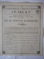 JF CAIL  1872 Quai De Grenelle PARIS - Industrie