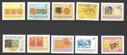 """Polynésie Service Yt 16 à 25 """" Timbre Et Cachet """" 1993 Neuf** - Service"""