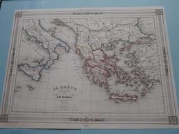 La Grèce Et Ses Colonies Par A. H. Dufour ( See Description / Beschrijving ) ! - Maps