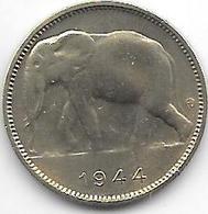 Belgium Congo 1 Franc  1944   Km 26  Vf+ - Congo (Belge) & Ruanda-Urundi