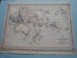 Carte De L'OCEANIE Et Sous La Direction De J. G. Barbié Du Bocage 1843 ( See Description / Beschrijving ) ! - Maps