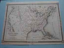 ETATS-UNIS Par TH. Duvotenay ( See Description / Beschrijving ) ! - Maps
