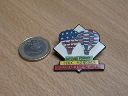 SAPEURS POMPIERS. JEUX MONDIAUX. COLORADO USA 1993. MONTGOLFIERES. - Firemen