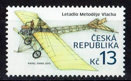TIMBRE RÉPUBLIQUE TCHÈQUE AVION LETADIO METODEJE - Aviones