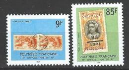 "Polynésie Service Yt 27 Et 28 "" Timbre Et Cachet "" 1997 Neuf** - Service"
