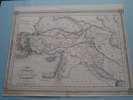 ASIE OTTOMANE Ou TURQUIE D'ASIE Par V. Levasseur ( See Description / Beschrijving ) ! - Maps