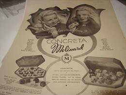 ANCIENNE PUBLICITE PARFUM CONCRETA DE MOLINARD 1941 - Perfume & Beauty
