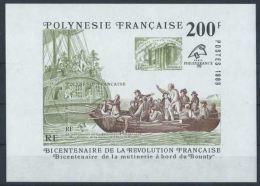 """Polynésie Bloc Yt 15 """" Révolution Française """" 1989 Neuf** - Blocks & Sheetlets"""