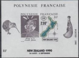 "Polynésie Bloc Yt 17 "" Nouvelle-Zelande 1990 "" 1990 Neuf** - Blocks & Sheetlets"
