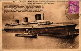 CPA Paquebot NORMANDIE SHIPS (704164) - Paquebote