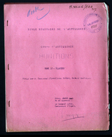Cours D'artillerie, MUNITIONS, Tome II: PLANCHES. Nimes, Avril 1942. Obus, Fusées, Detonateur, Annexes - Libri