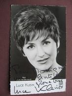 CPA CPSM PHOTO ARTISTE Femme LUCE KLEIN Chanteuse Auteur Compositeur Interprete Française 1960 RARE Dédicacée Autographe - Artistes