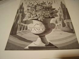 ANCIENNE PUBLICITE PARFUM  CONQUETE  DE LANCOME 1940 - Perfume & Beauty