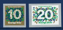 SERIE 2 TIMBRES SUÈDE  The 350th Anniversary Of Riksbanken - Central Bank Of Sweden - Erinofilia