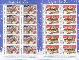 2009. Moldova, Christmas, 2 Sheetlets Of 10v, Mint/** - Moldova