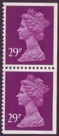 1989 GB 29p Machin Vertical Pair Imperf At Top, Bottom & Right U/M  SG X1054 - 1952-.... (Elizabeth II)