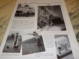 ANCIENNE PUBLICITE PARFUM  LENTHERIC CHEZ LA DUCHESSE DE NEMOURS 1938 - Perfume & Beauty