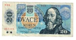 Slovakia 20 Korun 1993 Provisional Issue .J. - Slovacchia