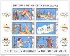 1992. Moldova, Summer Olympic Games Barcelona, S/s, Mint/** - Moldova