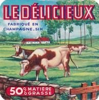 ETIQUETTE   FROMAGE TYPE CARRE DE L'EST -  LE DELICIEUX -   Fab Dans La  MARNE  51 - Fromage
