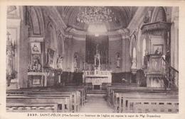 Cpa Saint Félix - Intérieur De L'Eglise Ou Repose Mgr Dupanloup - France