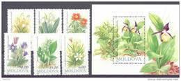 1993.Moldova,  Flowers, 6v + S/s, Mint/** - Moldova