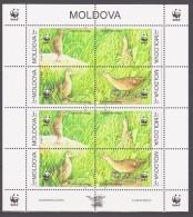 Moldova 2001 Moldawien Mi 379-382klb WWF. Worldwide Conservation: Corncrake / Birds / Vögel **/ MNH - W.W.F.