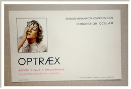 Buvard  Bain Oculaire OPTRAEX, En Espagnol - Chemist's