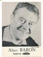 Albert Baron - Photo P.Dannès - Célébrités